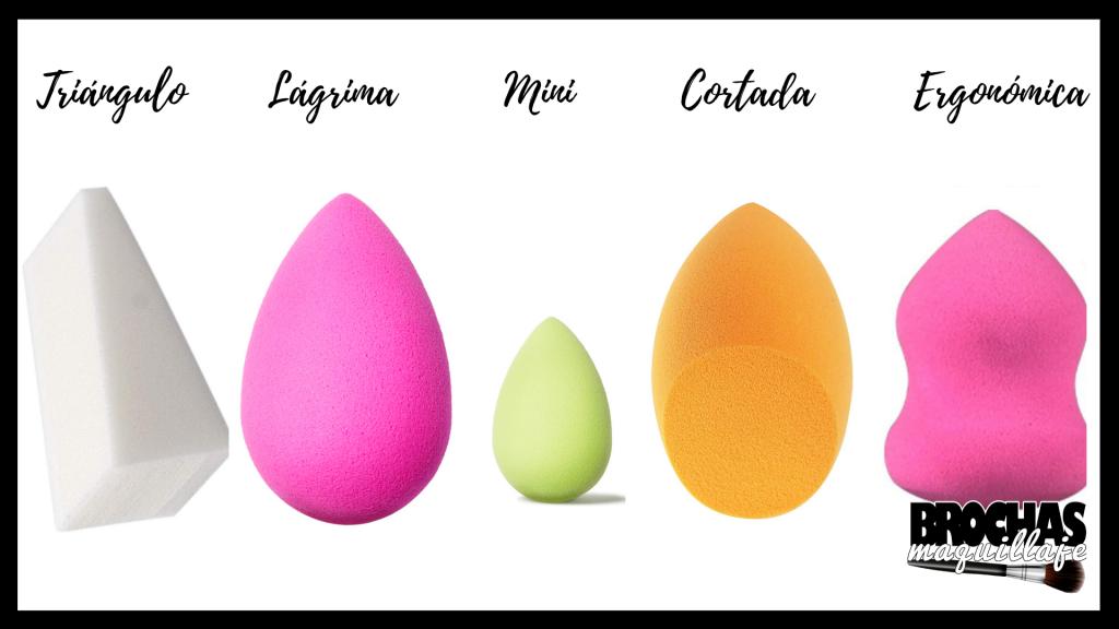 Tipos de esponja de maquilalje